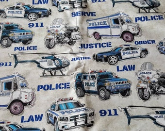Police Vehicles - 1 Yard Cut by Quilting Treasures