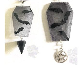 Bat Coffin Gothic Pendant