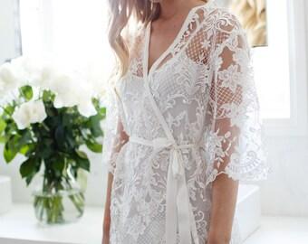 Lace Bridal Robe // Bridesmaid Robes // Robe // Bridal Robe // Bride Robe // Bridal Party Robes // Bridesmaid Gifts / Celeste