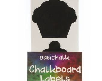 12 Large Cupcake Chalkboard labels
