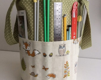 Large Knitting Bag Handmade