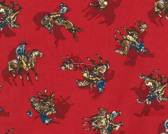 Cowboys, Rodeo Fabric, Roping Fabric, Ride Em Cowboy By Robert Kaufman, 01038A