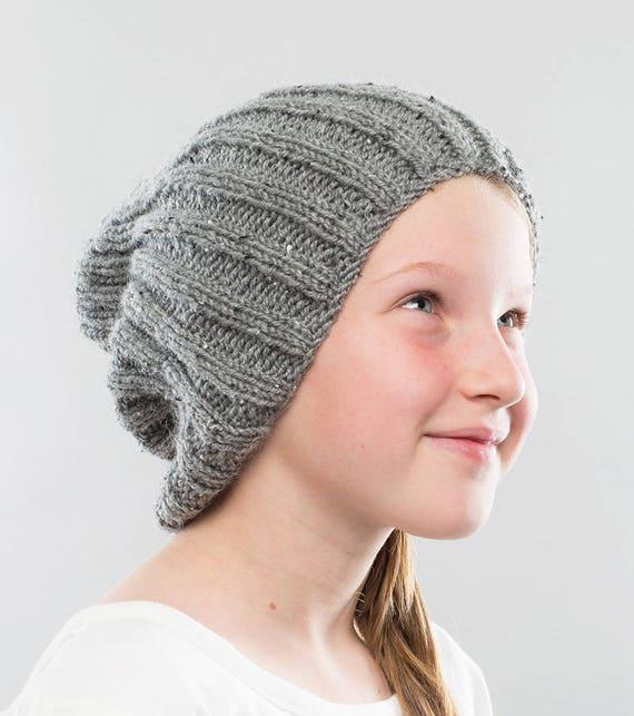 Hat Knitting Pattern Slouchy Beanie Knitting Pattern Hipster