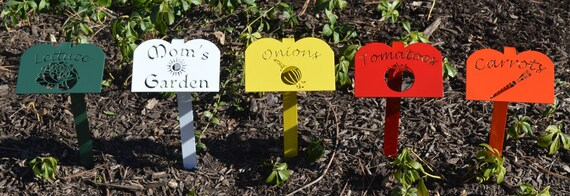 Metal Garden Marker,Garden Stake,Plasma Cut Metal Art,Garden Row Marker,Garden Accents,Vegetable Marker,Custom Garden Markers,Personalized