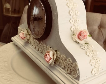 Shabby Chic Mantle Clock
