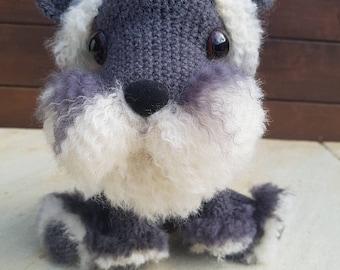 Adorable Bowser the Schnauzer Puppy - crochet amigurumi- Australian handmade - Great Birthday Gift - Dog Lover - Perfect desk companion