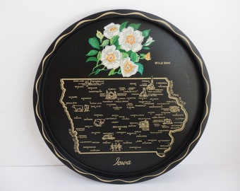 Souvenir Plate or Tray of the State of Iowa.