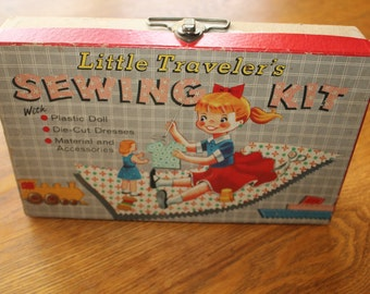 VINTAGE 1957 Transogram Toys Little Traveler's Sewing Kit