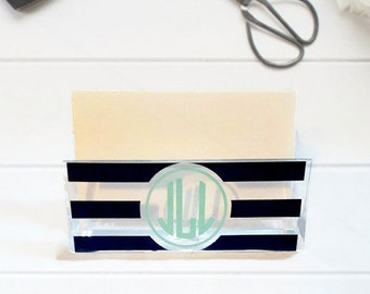 Personalized business card holder etsy more colors personalized business card holder reheart Gallery