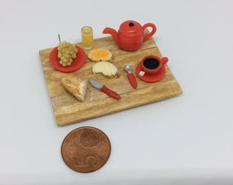 1: 12th scale miniature breakfast tray