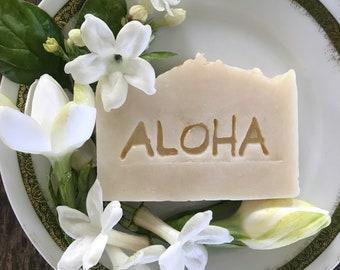 Gardenia Soap/Coconut Milk Soap/Vegan Soap/Handmade in Maui/Maui Souvenir/Hawaii Wedding/Maui Soap/Birthday Gift/Gardenia Soap/Fragrance oil