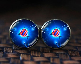 Molecule Cufflinks, science Cufflinks, Physics Cufflinks, molecule jewelry, Quantum Physics, Atom Cufflinks, science gift