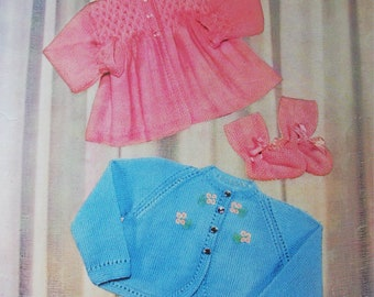 LAVENDA 445 Vintage Baby Knitting Pattern