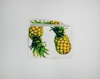 Tropical print coin purse