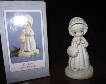 """Vintage Precious Moments """"The Lord Will Provide"""""""
