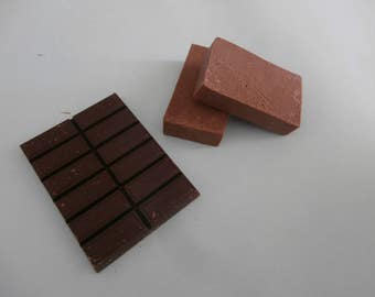Authentic handmade chocolate  olive oil with cocoa powder