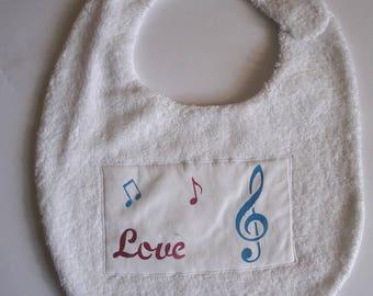 Love white bib for baby 0-24 months