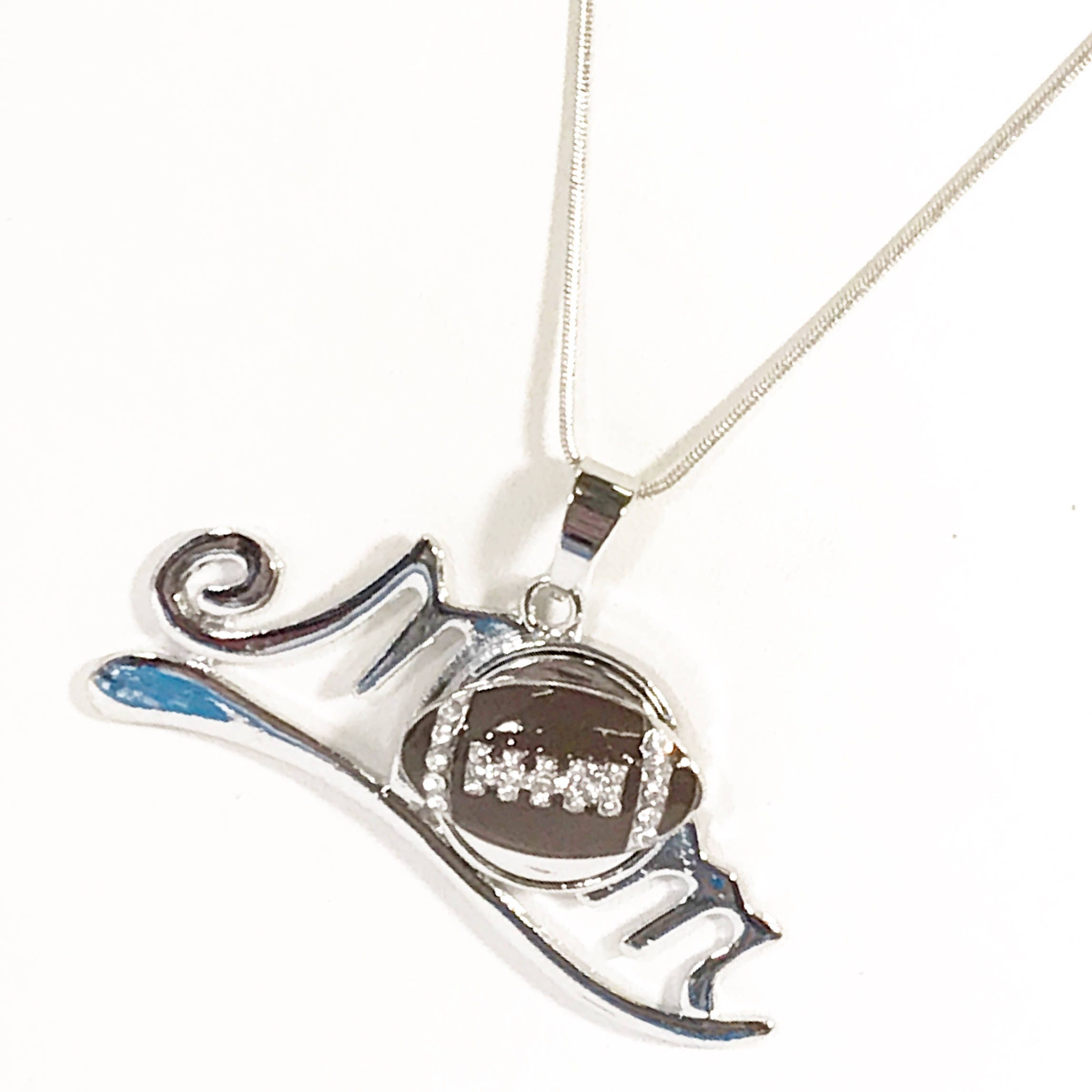 silver sterling wildcats crystal team necklace pin pendant logo s arizona women size football