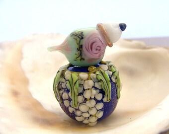 2 Handmade Lampwork Beads