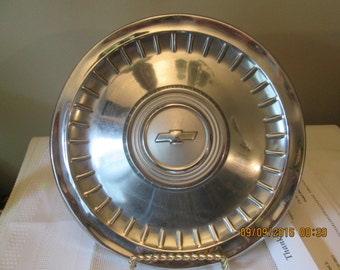 Vintage Chevrolet Hubcap, Auto Parts, Auto Restoration, Bow Tie Emblem, Wheel Cover