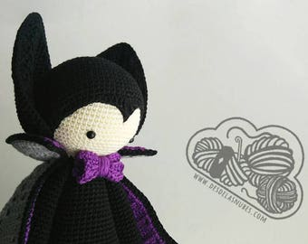 Vlad vampire doll crochet amigurumi made with Lalylala pattern