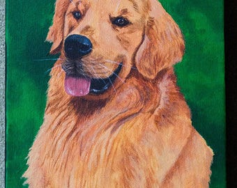 Custom Pet Portrait painting, acrylic or watercolour, original handpainted