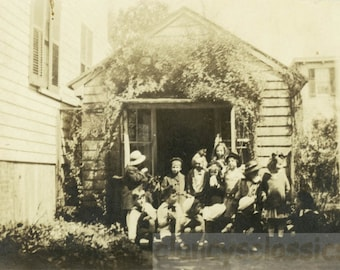vintage photo 1919 Mrs Willcox Home School Wellsville NY 1916