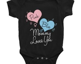 Pink or Blue Mommy Loves You, Infant Bodysuit