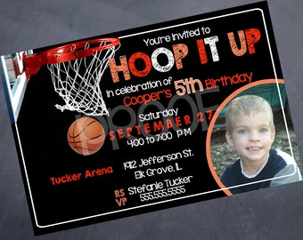 Printable Birthday Invitation - Basketball - Any age!