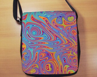 Psychedelic Small Shoulder Bag, Abstract, Fractal, Small Crossbody Bag, Small CrossBody Purse, Cross Body Bag, Sling Bag, Small Purse, Bag