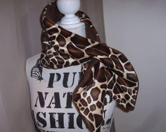 Handmade scarf in Giraffe print