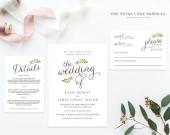 Editable Wedding Invitation Template   Wedding Invitation Printable   Printable Wedding Invitation   Wedding Invitation Download - PLP_001
