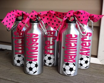 20oz Aluminum Water Bottle Soccer Baseball Basketball Tennis Dance Gymnastics Team Theme   Your Team Colors   Any Sport Can Be Done