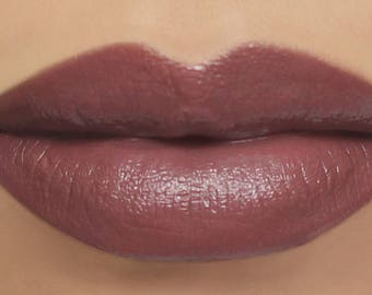 "Vegan Lipstick - ""Soulful"" brownish mauve natural mineral makeup"