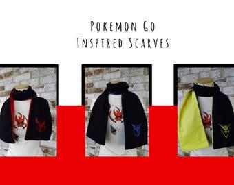 Pokemon Go Inspired Flannel Scarves ー Team Instinct, Mystic, Valor OR All 3! ー Show off your Team Spirit! ー Anime and Fandom Apparel