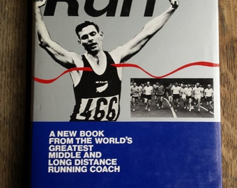 Run The Lydiard way, running, running book, vintage book, vintage sports book, 1978, first edition, athletes gift, runners,  arthur lydiard