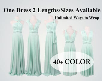 Light mint infinity bridesmaid dress long infinity dress short convertible bridesmaid dress infinity dress long maxi dress wedding dress