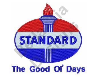 Standard Oil Logo - Machine Embroidery Design