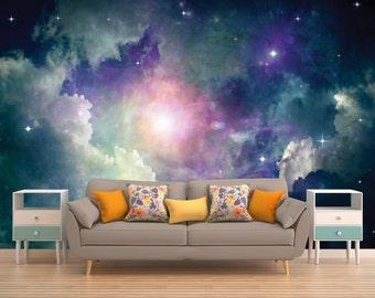 Platz-Wandbild, Weltraum Wandbild, Galaxy Wallpaper, Sterne, Weltraum, Universum, Planet, Planeten, Sonnensystem, Raum, Wandverkleidung