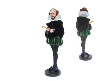 William Shakespeare Hand Painted 2D  Art Figurine