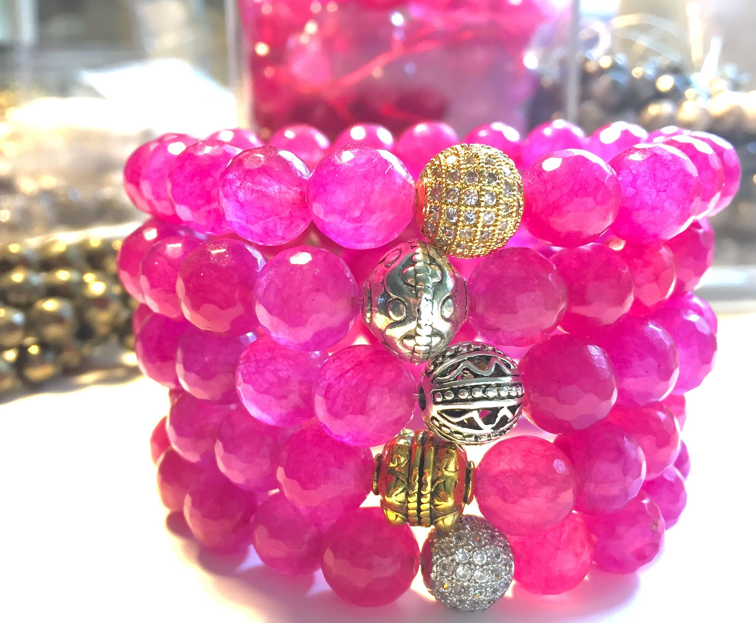 bead repellent img charms copy jewellery mosquito crystal with products stone collections lava beaded pink bracelet