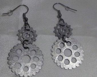 Steampunk Earrings, Silver Earrings, Affordable Earrings, Affordable Jewelry, Steampunk Jewelry