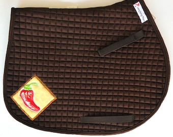 Be Sizzlin'  With This Brown Chili Pepper Saddle Pad for AP Saddles HA-82