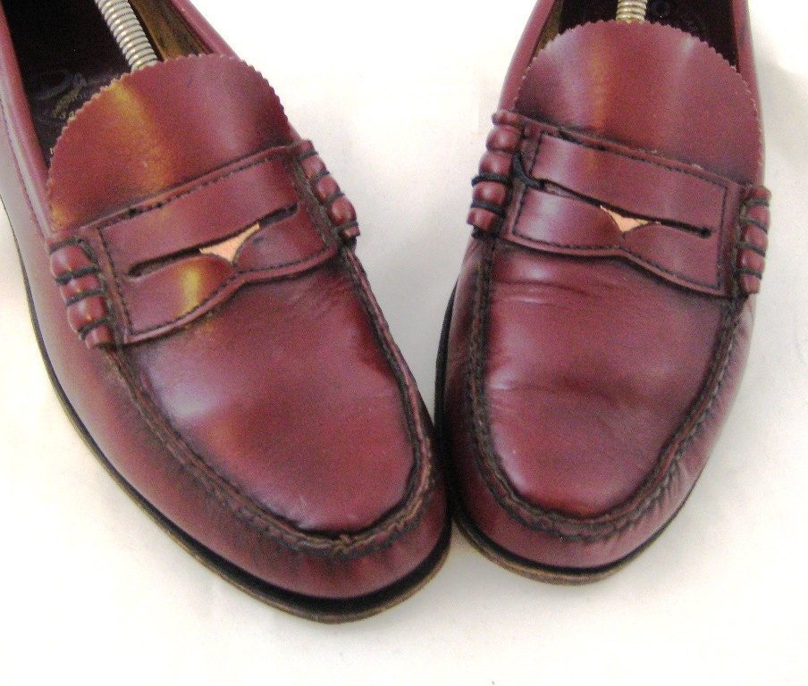1980s Penny Loafers Mens Penny Loafers Burgundy Loafers Mens