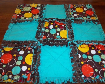 Bubblemania Security Blanket / Raggedy Quilt