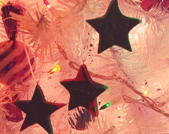 SALE Personalized Star Christmas Ornaments
