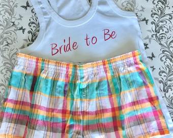 Bride to Be Pyjamas With Shorts *SALE*