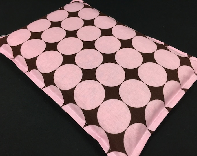 Corn Heating Pad, Large Corn Bag, Microwave Heat Pack, Massage Therapy, Bed Warmer, Heated Bag, Relaxation Gift, Pain Relief, Disco Dot Pink