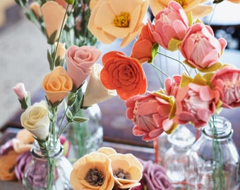 Dreamy Felt Flowers