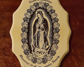 Virgen de Guadalupe Wood Frame
